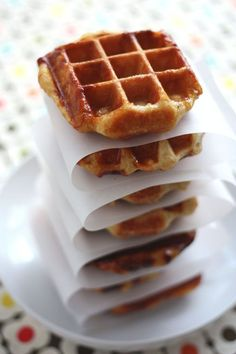 The title of this post is mostly a lie. You see, I love Liege style waffles so much that I basically dedicated an entire weekend to eating them in Belgium. But I had to figure out a way to make my own