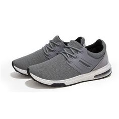 Men's Mesh Breathable Shock Absorption Sport Running Lace Up Casual Trainers