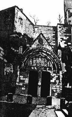 Dousco - Saint Emilion, France Église troglodyte - Aquatinte