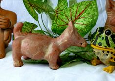 Aztec Colima Terracotta Dog Pre-Columbian Mayan Pottery Figurine Statue, Mythical Chupacabras of Mexico by Vintage42Day on Etsy
