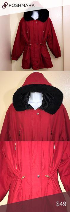 Metropolitan New • York 10001 Coat Faux Fur Hoodie Metropolitan New • York 10001 Coat Faux Fur Hoodie • EUC  • No flaws • Size Large • RN 23243 New York & Company Jackets & Coats Trench Coats