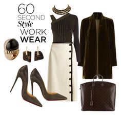 """""""Untitled #2804"""" by deirdre35 ❤ liked on Polyvore featuring Eileen Fisher, Karen Millen, Altuzarra, Christian Louboutin, Louis Vuitton, Kathleen Whitaker, Chanel, WorkWear and 60secondstyle"""