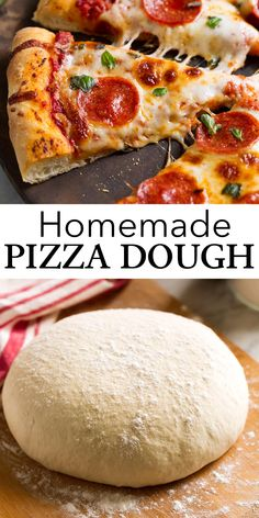 Homemade Pizza Dough Recipe - so easy, great texture, love the flavor and lots of helpful tips included! My go-to recipe! Bread Maker Recipes, Pizza Recipes, Cooking Recipes, Freeze Pizza Dough, Best Pizza Dough Recipe, Pizza Recipe For 2, Homeade Pizza Dough, Bread Maker Pizza Dough, Easy Pizza Dough
