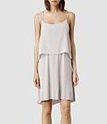 Femme Fade Dress layers (Stone/Ash) | ALLSAINTS.com #dress #women #covetme