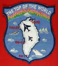 """1950s-60s Large """"The Top of the World"""" Thule, Greenland Patch Nord Sites UnUsed To see the Price and Detailed Description you can find this item in our Category Vintage Military on eBay: http://stores.ebay.com/tincanalley1/Vintage-Military-/_i.html?_fsub=19469220018  RD15288"""