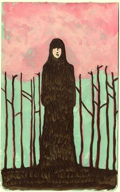 Spring (Grounded Girl Stands Still) limited edition print 1/50. 22.00 dollars, by Rowena Murillo