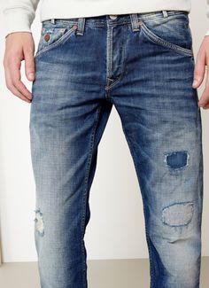 Pantalón Heritage MARSHALL | Pepe Jeans London Pape Jeans, Life After Denim, Marshall, Denim Ideas, Vintage Jeans, Denim Pants, Blue Denim, Clothes, Detail