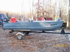 Sears Aluminum Boat great for fishing trips