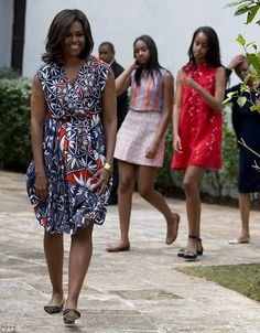 Chic trip: The teenagers have been showcasing their style, even one-upping mom Michelle