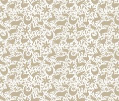 Mexico Springtime: Linen onWhite (small scale) fabric by sammyk on Spoonflower - custom fabric