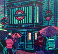 Ealing based gallery showcasing Gail Brodholt artist prints for sale. For Arts Sake specialise in prints by Gail Brodholt and other artists. Winifred Nicholson, Mind The Gap, London Underground, London Art, Silk Screen Printing, Almost Always, Linocut Prints, Print Artist, Prints For Sale