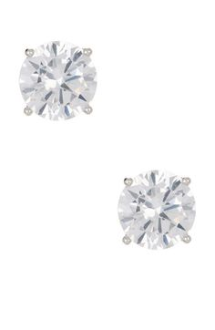 d4d3e5702 Nordstrom Rack - Round CZ Stud Earrings Silver Rounds, Sterling Silver,  Fashion Jewelry,