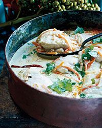 Mahimahi Coconut Curry Stew with Carrots and Fennel Recipe on Food & Wine| Padma Lakshmi always makes extra portions of this excellent coconut-curried mahimahi so she can reheat it the next day and eat it over noodles, like an Asian laksa.