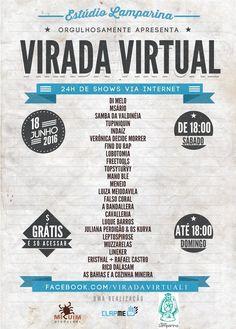 No dia 18 Virada Virtual reúne 24 grupos com shows online ao vivo