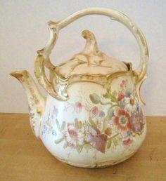 Gorgeous Royal Bonn Split Handled Teapot with Handpainted Floral Decor