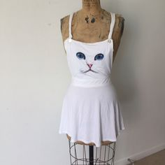Omighty Cat Overall Dress