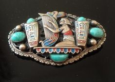 Vintage Max Neiger Egyptian Revival Art Deco Czech Brooch Great Condition 1922