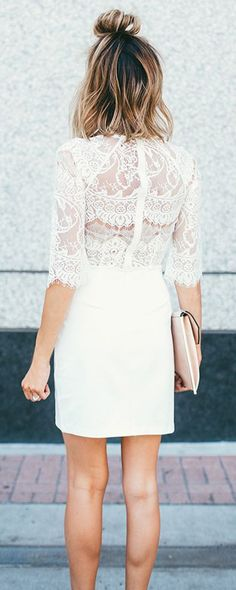 This dress is super pretty! I love the lace on the back of the dress and the sleeves!
