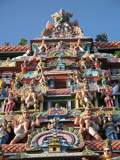 Architectural details at Chidambaram Temple in Tamil Nadu, India by Fovea Centralis, via Flickr