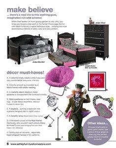 Kids decorating ideas. JulyTrendwatch by Ashley Furniture HomeStore.