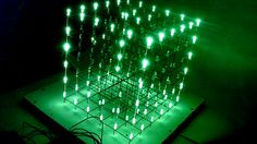 Patterns in a LED Cube using Arduino, made on a Double Sided PCB