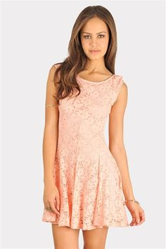 Lacey Lady Cut Out Dress - Bright Pink