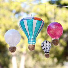 Recycle Light Bulbs into Hot Air Balloons and see all the variety that is available with the different shapes of today's bulbs. This is a craft better left
