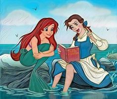 "Ariel: ""It's a whatsy-doodle!"" Belle: ""No, it's a book."""