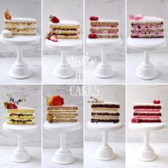 Cake Fillings, Cake Flavors, Pastry Recipes, Cake Recipes, Chocolate Cake Designs, Patisserie Fine, Inside Cake, Cake Decorating Piping, Gourmet Cakes