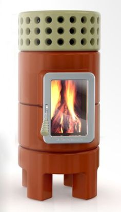 Stack stoves, a ceramic line with wood burning and pellet burning fireplaces