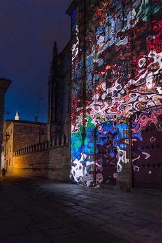 Festival Luz y Vanguardia en Salamanca. Obra de Canogar de la primera edición (2016). Fechas: del 15 al 18 de junio de 2017