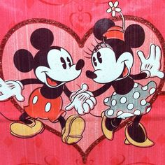 Mickey and Minnie Mouse - pie eyes!!