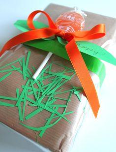 Gift Wrap Series #5 Lollipop Gift Wrap with Confetti technique
