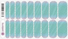 Jamberry Nail Wraps  in Mermaid Tales - super cute for the whole hand or as an accent nail. Buy 3 Get 1 free and you can mix and match!