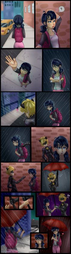 MariChat >>> that would be the second time he's caught her in the rain