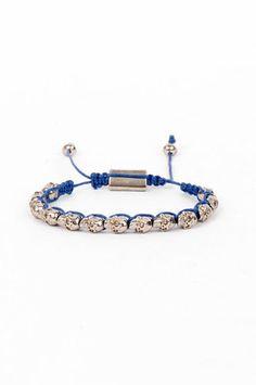 Skull Bracelet in Blue and Silver $7 at www.tobi.com