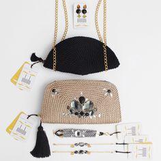 ● Bolsos & Accesorios de cordón de seda | Diseños de OLVIDO MADRID  www.olvidomadrid.es