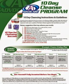 Best Of Advocare Food Guide