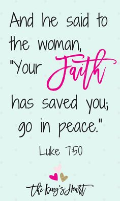 Our hearts know anxiety and stress because of our sins, but they also know the peace of forgiveness. If we have faith in Jesus we are saved, and we should not to talk or act as if there were any question about it. Move forward today in the peace of God. Move forward today in peace and love. Luke 7:50