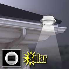 Powerful solar LED attaches to gutter.  See if it would work for camping