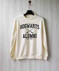 Hogwarts Alumni Harry Potter Shirt Sweatshirt Sweater Shirt – Size XS S M L XL