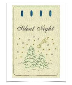 Free Embroidery Design: Silent Night Holiday Gift Bag