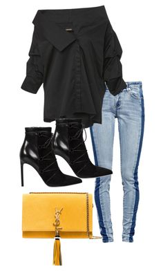 """Untitled #4977"" by ashleymeagan ❤ liked on Polyvore featuring Johanna Ortiz and Yves Saint Laurent"