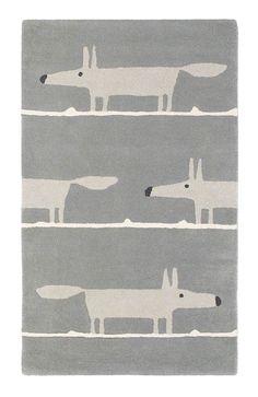 Mr Fox Rug Silver rug by Scion