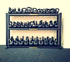 Metal Athletics Storage Rack - Kettlebells