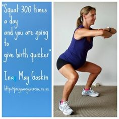 The best Pregnancy Exercise: Squats Have you been told not to squat, how many squats should you do, will squats make your birth quicker. All the answers in the awesome new blog from http://pregnancyexercise.co.nz #fitpregnancy #pregnancyexercise