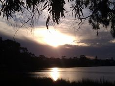 Sunset over Swan River in Perth