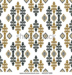 Seamless colored ethnic design on white background for textile prints. Tribal Patterns, Textile Patterns, Textile Prints, Textile Design, Print Patterns, Textiles, Graph Design, Pattern Design, Print Design