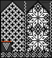 Ravelry: Norwegian Rose - Selbu mittens pattern by Katrine Hammer Designer Knitting Patterns, Fair Isle Knitting Patterns, Knitting Charts, Knitting Designs, Knitting Stitches, Knitting Tutorials, Free Knitting, Knitted Mittens Pattern, Knit Mittens