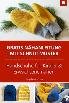 Free sewing pattern with sewing instructions for children and adults. # Sewing pattern # sewing Sew gloves for young and old - with a link to the pattern Franziska Wagner Nähen Free sewing pattern with sewing instructio Sewing Patterns Free, Free Sewing, Sewing Tutorials, Free Pattern, Knitting Patterns, Sewing Projects, Pattern Sewing, Knitting Socks, Baby Knitting